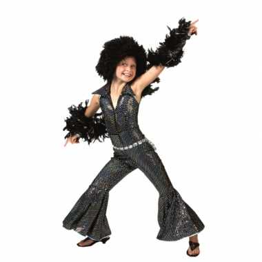 Verkleedkleding  Zwart disco suit kind tip