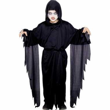 Verkleedkleding zwart scream mantel gewaad kind tip