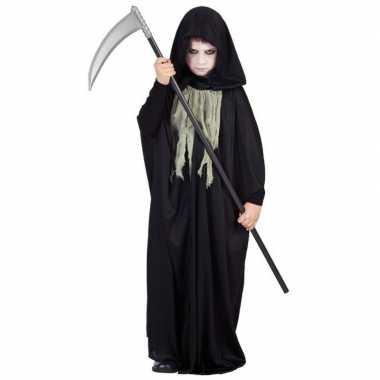 Verkleedkleding  Zwarte cape capuchon kind tip