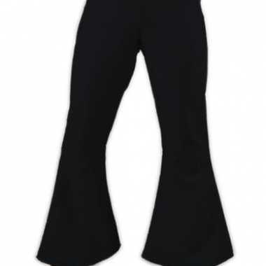 Verkleedkleding  Zwarte dames disco broek tip