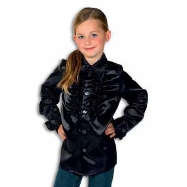 Verkleedkleding  Zwarte disco blouse jongens tip