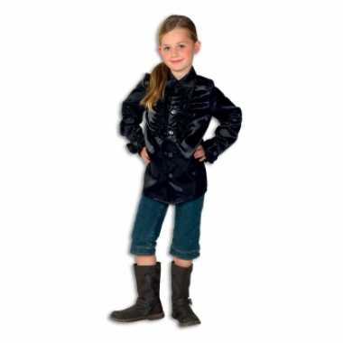 Verkleedkleding  Zwarte disco blouse meisjes tip
