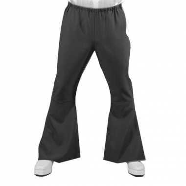 Verkleedkleding  Zwarte disco heren broek tip