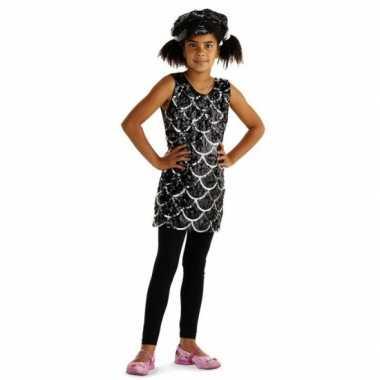 Verkleedkleding  Zwarte glitterjurkjes meisjes tip