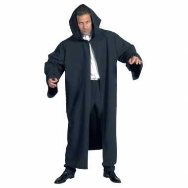 Verkleedkleding  Zwarte heren cape deluxe tip