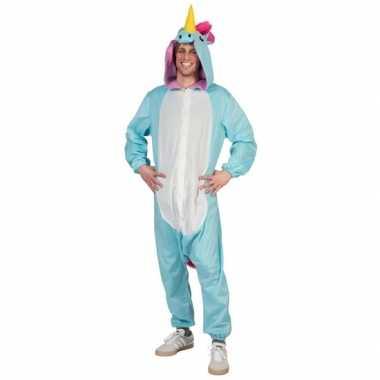 Verkleedverkleedkleding blauwe eenhoorn heren tip