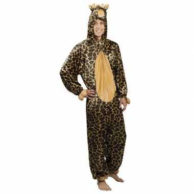 Verkleedverkleedkleding giraffe heren tip