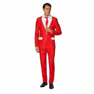 Verkleedverkleedkleding heren kerstman verkleedkleding 3 delig tip