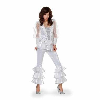 Wit disco verkleedkleding dames tip