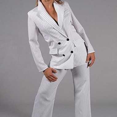 Wit gangster verkleedkleding dames tip