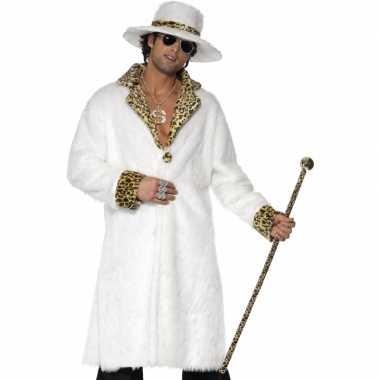 Wit pooier verkleedkleding heren tip