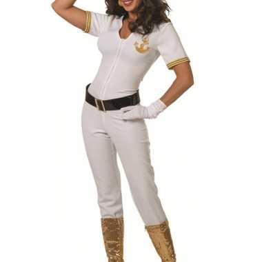 Witte kapiteins verkleedkleding dames tip