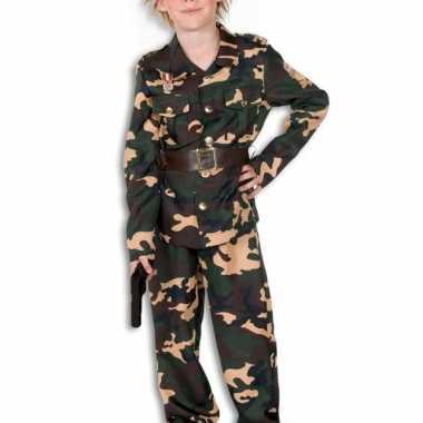 Woodland camouflage verkleedkleding kind tip