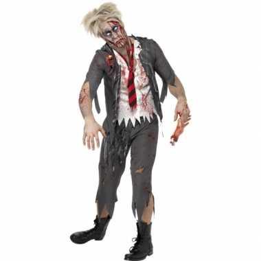 Zombie schooljongen verkleedkleding heren tip