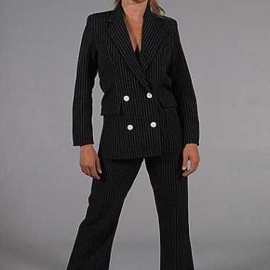 Zwart gangster verkleedkleding dames tip