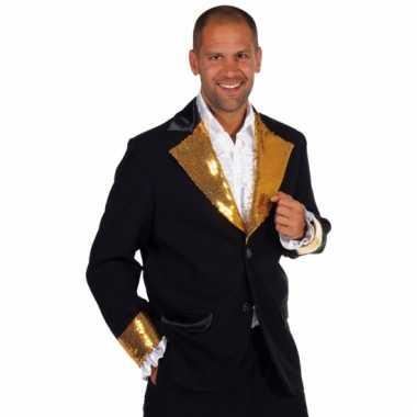 Zwart /goud bling bling verkleedkleding mannen tip
