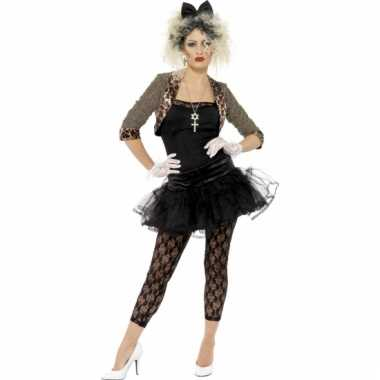 Zwart jaren 80 dames verkleedkleding tip