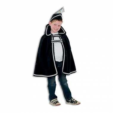 Zwart Prins carnaval verkleedkleding kind tip