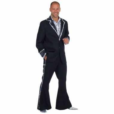 Zwarte glitter verkleedkledingken mannen tip