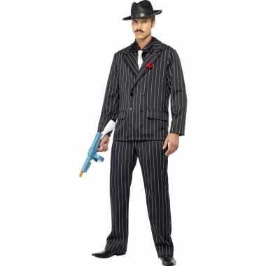 Zwarte maffia verkleedkledings heren tip