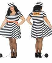Grote maten gevangene boef bonnie verkleed verkleedkleding dames