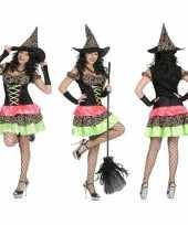 Heksen verkleedkleding jurk incl hoed