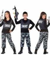 Politie swat verkleed verkleedkleding verkleedkleding kind