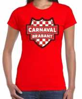Verkleedkleding carnaval verkleed t-shirt brabant rood voor dames