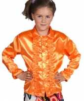 Verkleedkleding disco blouse oranje kind