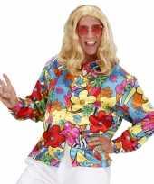Verkleedkleding flower power shirt gekleurd