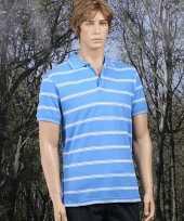 Verkleedkleding gestreepts blauw poloshirts