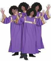 Verkleedkleding gospel koor jurken paars