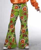 Verkleedkleding groene hippie broek kind