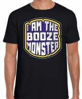 Verkleedkleding halloween booze monster verkleed t shirt zwart heren