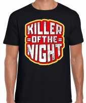 Verkleedkleding halloween killer of the night verkleed t shirt zwart heren