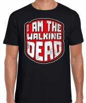 Verkleedkleding halloween walking dead verkleed t shirt zwart heren