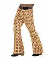 Verkleedkleding heren hippie broek retro print maat xxl
