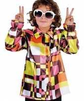 Verkleedkleding hippie kinder blouse gekleurd