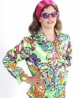 Verkleedkleding hippie peace bloesjes kind