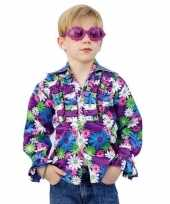 Verkleedkleding kinder seventies blouse bloemen