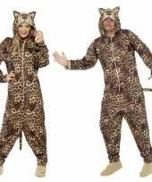 Verkleedkleding luipaardjes onesie volwassenen