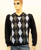 Verkleedkleding luxe heren pullover blue
