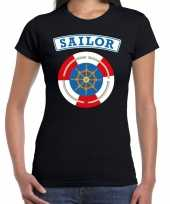 Verkleedkleding zeeman sailor verkleed t shirt zwart dames